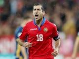 Armenia's Henrikh Mkhitaryan celebrates scoring their second goal in September 2019