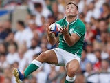 Jordan Larmour in action for Ireland on August 24, 2019