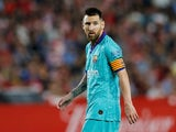Barcelona attacker Lionel Messi in action during the La Liga clash with Granada on September 21, 2019
