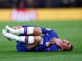 Chelsea's Mason Mount lies injured on September 17, 2019