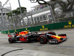 Max Verstappen during Singapore GP practice on September 20, 2019