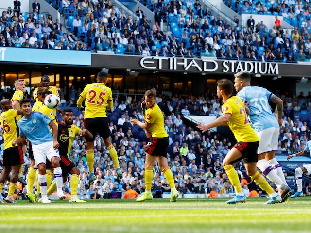 Riyad Mahrez scores Man City's third on September 21, 2019
