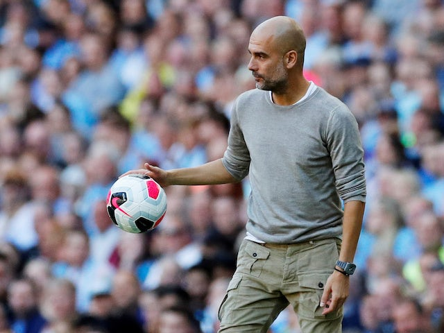 Manchester City manager Pep Guardiola pictured on September 21, 2019