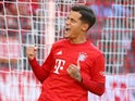 Bayern Munich's Philippe Coutinho celebrates scoring their third goal against Koln on September 21, 2019