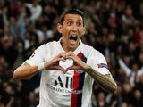 Paris Saint-Germain's Angel Di Maria celebrates scoring against Real Madrid in the Champions League on September 18, 2019