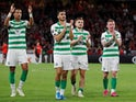 Celtic players applaud on September 19, 2019