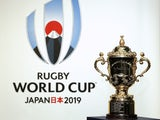A general shot of the Rugby World Cup trophy ahead of the 2019 tournament