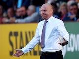 Burnley boss Sean Dyche on September 21, 2019