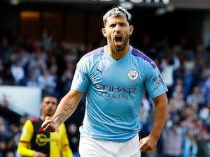 Sergio Aguero scores Man City's second on September 21, 2019
