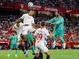 Sevilla's Diego Carlos in action during the La Liga clash with Real Madrid on September 22, 2019