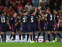 Harry Wilson celebrates scoring with Bournemouth teammates on September 20, 2019