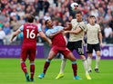 Manchester United's Nemanja Matic in action with West Ham United's Sebastian Haller in the Premier League on September 22, 2019