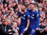 Jorginho celebrates scoring for Chelsea against Brighton & Hove Albion in the Premier League on September 28, 2019.