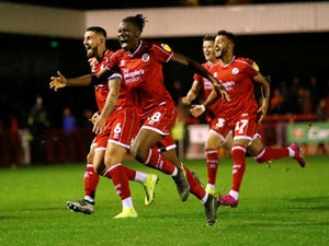 Struggling Stoke crash out of EFL Cup at League Two Crawley