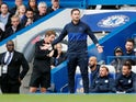 Frank Lampard left frustrated during Chelsea's Premier League game with Brighton & Hove Albion on September 28, 2019.