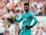 Hugo Lloris in action for Spurs on September 28, 2019