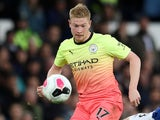 Kevin De Bruyne in action for Manchester City on September 28, 2019