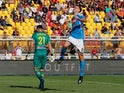 Napoli midfielder Fabian Ruiz celebrates scoring against Lecce in Serie A on September 22, 2019