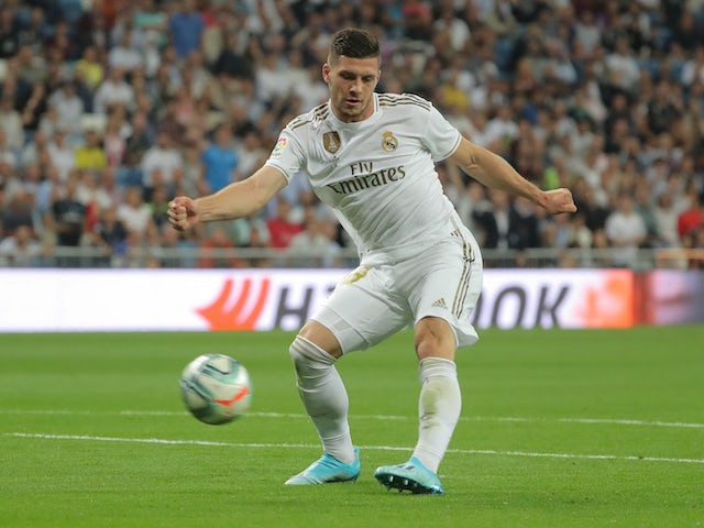 Luka Jovic in action for Real Madrid on September 25, 2019
