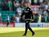 Paul Heckingbottom pictured in charge of Hibernian in April 2019