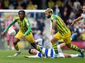 West Bromwich Albion's Romaine Sawyers in action with Queens Park Rangers' Ilias Chair on September 28, 2019