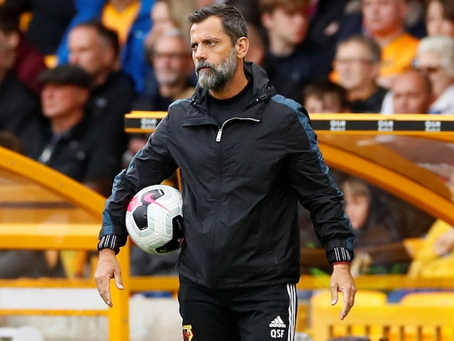 Watford boss Quique Sanchez Flores watches on on September 28, 2019