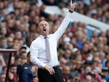 Burnley boss Sean Dyche remonstrates on September 28, 2019