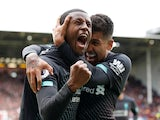 Liverpool's Georginio Wijnaldum celebrates scoring against Sheffield United in the Premier League on September 28, 2019.