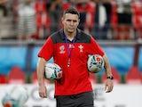 Wales backs coach Stephen Jones before the match against Georgia on September 23, 2019