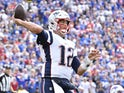 New England Patriots quarterback Tom Brady (12) throws a pass in the third quarter against the Buffalo Bills at New Era Field on September 29, 2019.