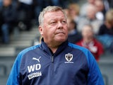 AFC Wimbledon boss Wally Downes pictured on September 7, 2019