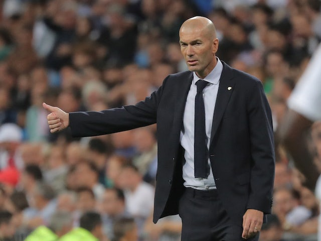 Real Madrid boss Zinedine Zidane pictured on September 25, 2019
