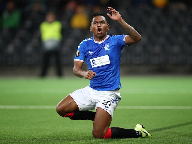 Alfredo Morelos in action for Rangers on October 3, 2019