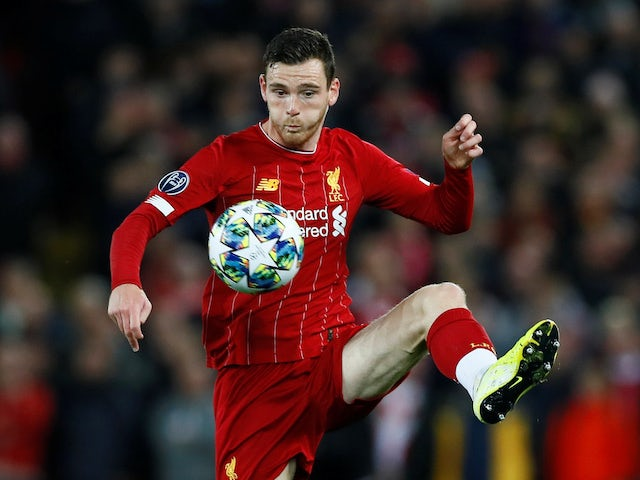 Andrew Robertson in action for Liverpool on October 2, 2019
