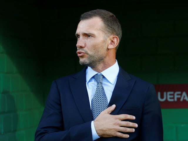Ukraine boss Andriy Shevchenko pictured on September 7, 2019