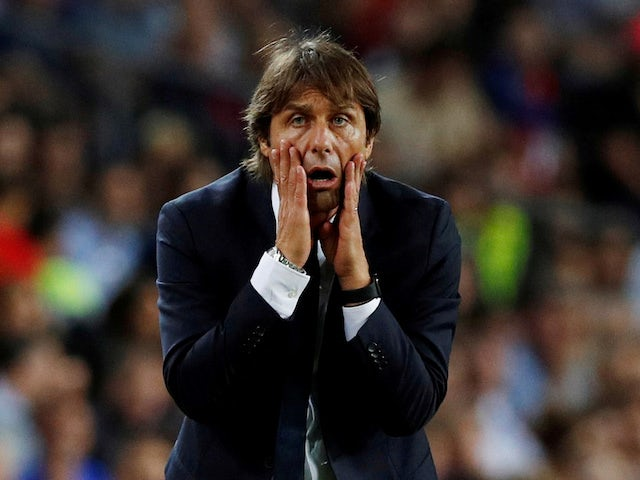 A despairing Inter Milan boss Antonio Conte on October 2, 2019