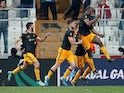 Wolverhampton Wanderers' Willy Boly celebrates scoring their first goal against Besiktas on October 3, 2019