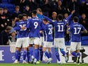 Cardiff City's Sean Morrison celebrates scoring their first goal with team mates on October 2, 2019