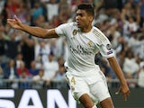 Casemiro celebrates equalising for Real Madrid on October 1, 2019