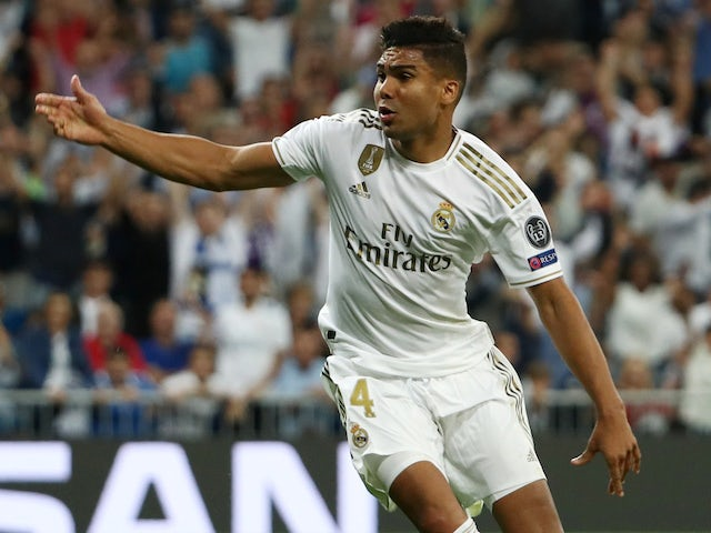 Result: Casemiro salvages draw for Real Madrid after two-goal deficit against Brugge