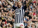 Charlie Austin celebrates scoring for West Brom on October 5, 2019