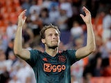 Daley Blind in action for Ajax on October 2, 2019