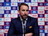 England manager Gareth Southgate during the press conference on October 3, 2019