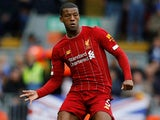 Georginio Wijnaldum in action for Liverpool on October 5, 2019