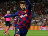 Gerard Pique in action for Barcelona on October 2, 2019