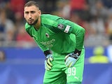 Gianluigi Donnarumma in action for Milan on September 21, 2019