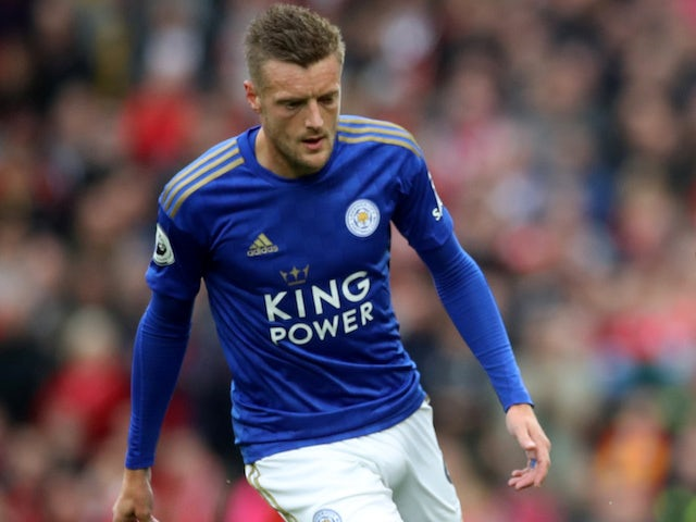 Jamie Vardy in action for Leicester City on October 5, 2019