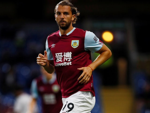 Jay Rodriguez in action for Burnley in pre-season on July 30, 2019