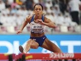 Katarina Johnson-Thompson in action at the World Championships on October 2, 2019