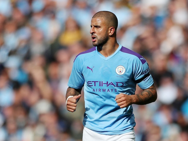 Kyle Walker in action for Manchester City on August 31, 2019